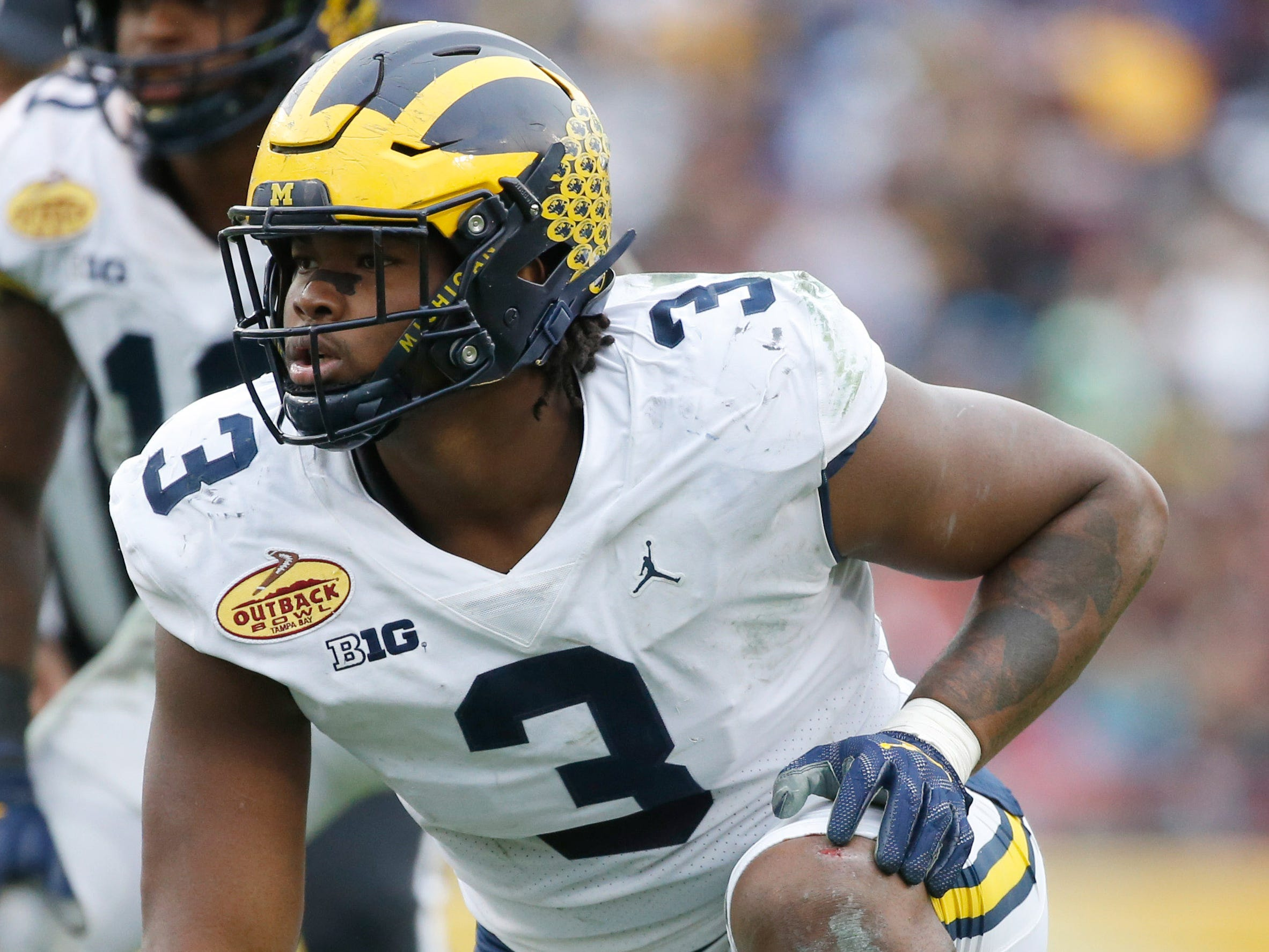 PROJECTED TRADE 15. Lions (from Redskins) — Rashan Gary, DE, Michigan