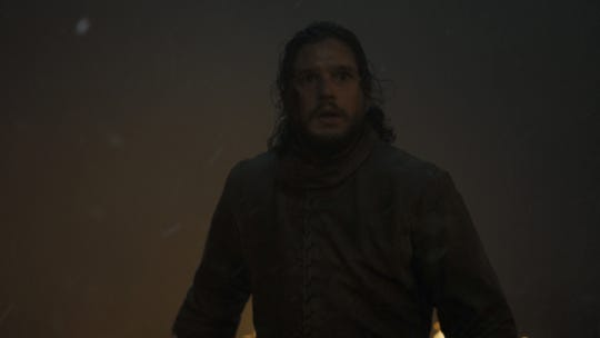 Jon Snow appears to be enveloped in the literal fog of war in Sunday's episode of 'Game of Thrones.'