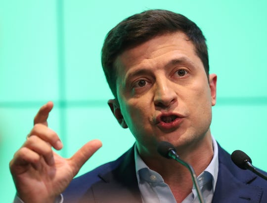 Volodymyr Zelensky, newly elected president of Ukraine, on April 21, 2019.