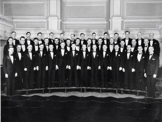 The MacDowell Male Chorus circa 1935.