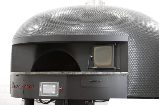 Christianos Pizza's wood fired brick oven in Appleton.