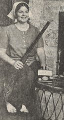 Then Jackie Ramsey, the 22-year-old shooter was featured in the Reporter-News in 1975 after winning all three women's .410 events at the Pan-American Skeet Championships at the Dallas Gun Club. She hit 99 of 100 targets.