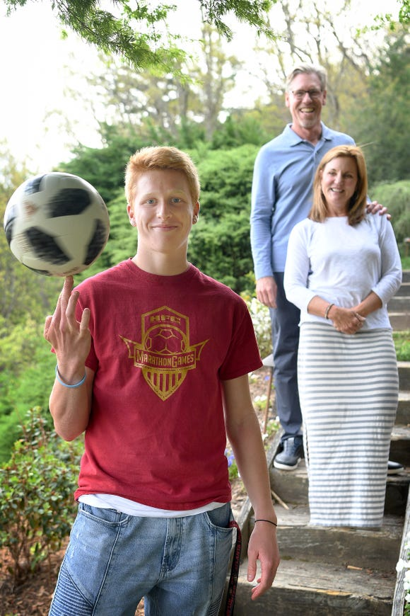 """Scott and Linda Wilkerson are dropping their Asheville lives to move with their son Michael, 17, to Atlanta so he can join the Atlanta United FC on a development team for the city's Major League Soccer team, with the goal of playing professional soccer. """"It's been something he has absolutely dedicated his life to... we can't not, as parents,"""" Scott said about supporting his son while he follows his dream."""