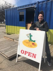VeggZ Cafe Owner Trish Case at her BC Cargo cafe.