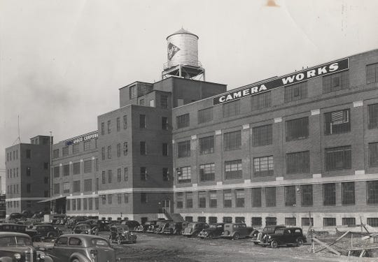 The Agfa-Ansco factory in Binghamton's First Ward, about 1940.