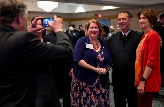Chief of Naval Operations (CNO) Adm. John Richardson meets with community leaders on Naval Base Kitsap-Bangor.
