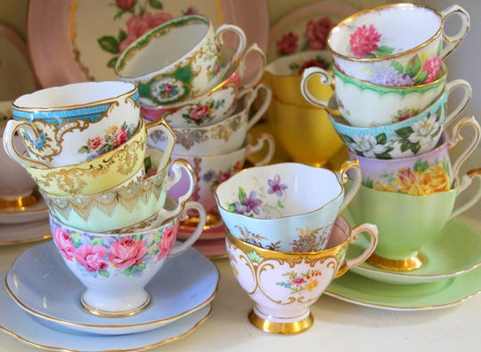 When there's a lot of a certain product on the market, like antique china, the price tends to drop.