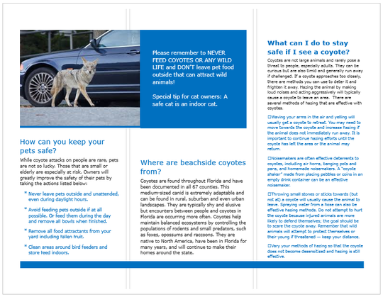 Guide explains what to do about coyotes in your neighborhood.