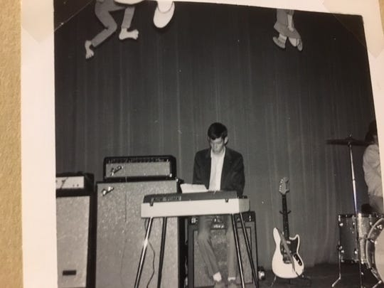 Don Dunlap will be playing the same white 1965 Fender Mustang guitar (right) at Saturday's gig.