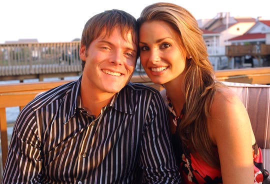 Colin Guinn and Christie Woods at their home on Padre Island in September 2004. The couple were runners up on Season 5 of The Amazing Race.