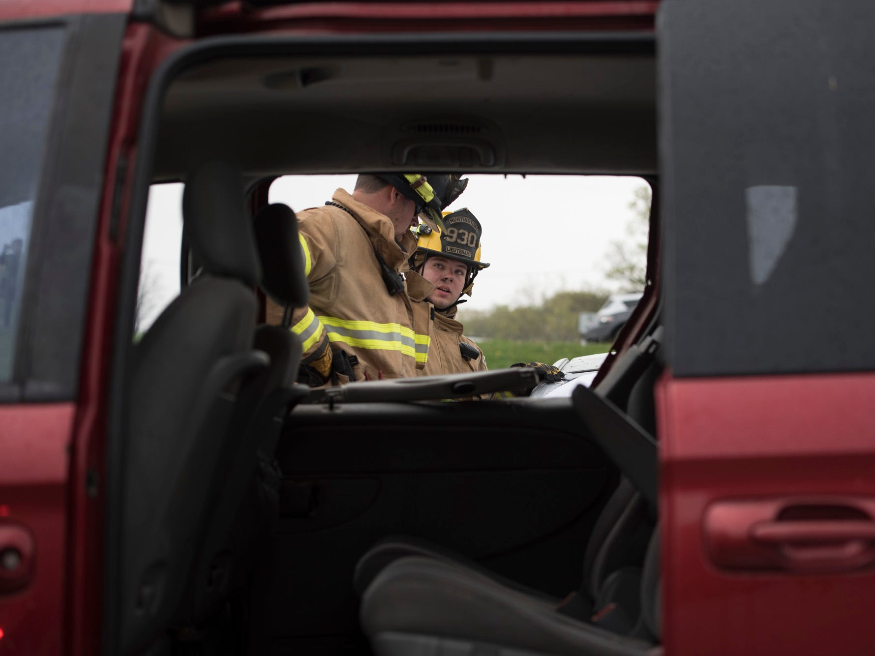 With the help of local police forces and fire departments, Paint Valley and Huntington local schools held mock crashes to show how drinking and driving can have dangerous consequences.