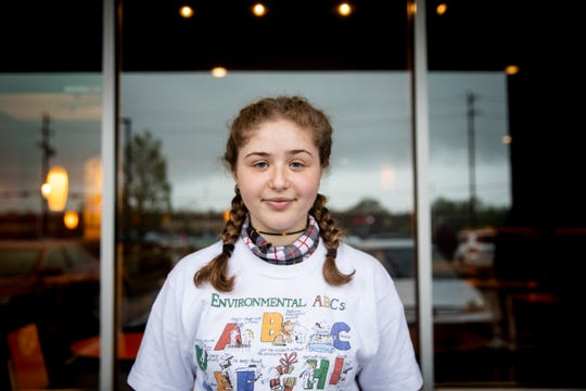 Eliana Garfunkel, a sophomore at Sycamore High School, poses for a portrait at Panera Bread in Symmes Township Friday, April 19, 2019. Eliana, who practices Judaism, says one of her classmates made anti-Semitic remarks to her in February.
