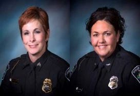 Karen Spanyer (left) and Heather Mitchell filed a civil suit this month accusing the Taylor Mill Police Department of sex discrimination.