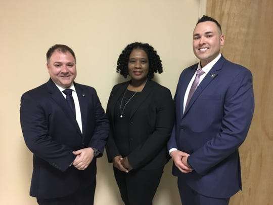 Highland Park Acting Police Chief Rick Abrams, Police Leadership Mentor Quovella M. Spruill and Acting Police Capt. Joe Curbelo were recently sworn into their new positions.