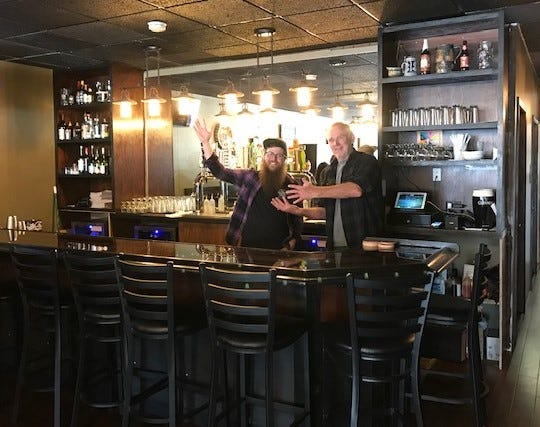 Groggy Dog owners Andy MacKinnon and Marvin Gribbins (along with Lori Hayden, not pictured) cast a welcoming atmosphere at their new Indianola eatery.