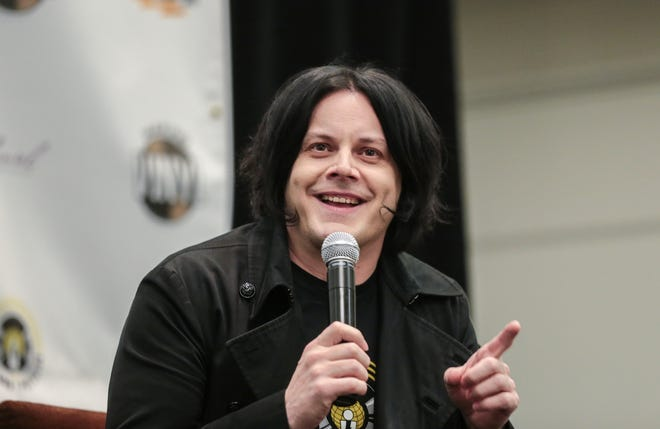 Jack White is set to receive an honorary degree from Wayne State University, the Detroit college he attended for a semester in 1994. White is seen here speaking about Third Man Pressing during the Making Vinyl conference at Detroit's Westin Book Cadillac Hotel in 2017.
