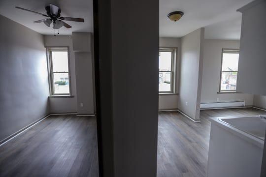 The inside of a one-bedroom, second-floor apartment in a building owned by Jamahl Makled.