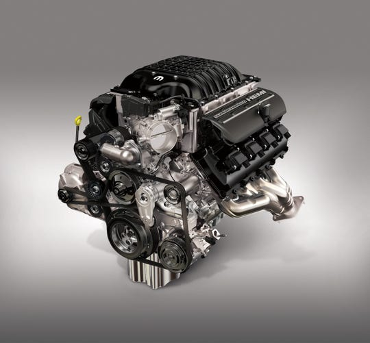 """Mopar is taking orders for the 1,000 horsepower """"Hellephant"""" 426 Supercharged Crate Hemi engine."""