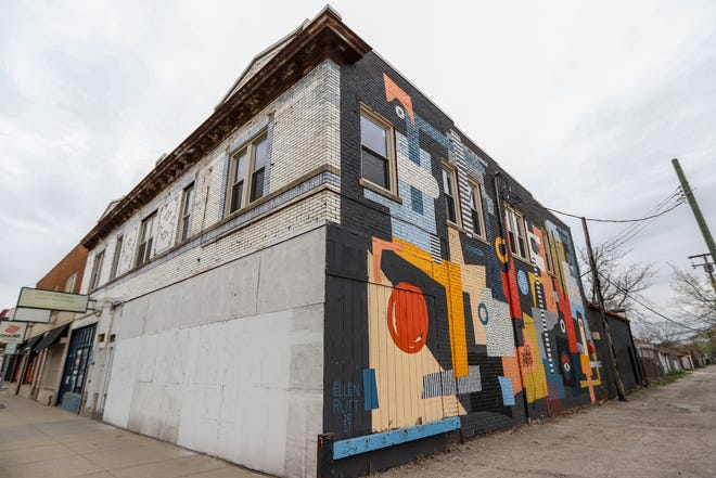 The old apartments in this southwest Detroit building were recently renovated to welcome new tenants.