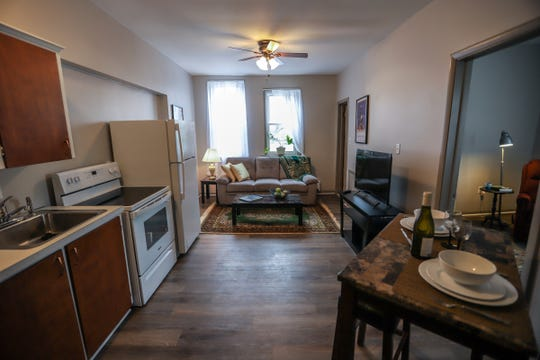 The inside of one apartment that could rent for around $750 per month.