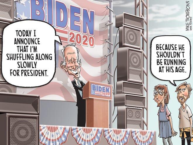 Joe Biden joins an already crowded Democratic presidential field.