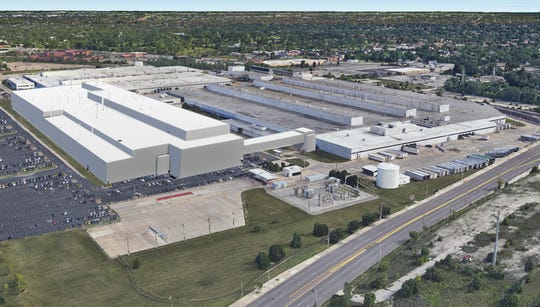 The rendering is of the new Mack Avenue Assembly Complex once Fiat Chrysler Automobiles NV invests $1.6 billion to convert the two plants in the future assembly site.