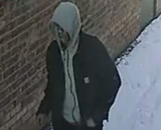 A person police are calling a suspect was caught on camera at about 9 a.m. Feb. 20.