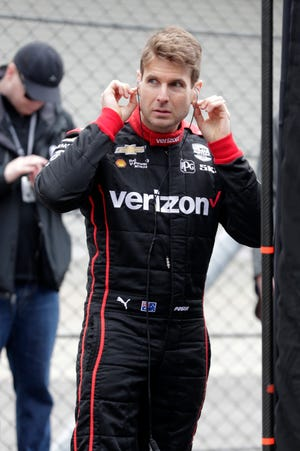 Will Power prepares for testing in Indianapolis on Wednesday.