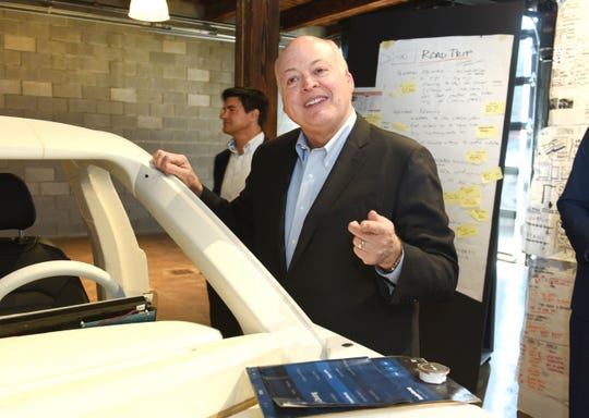 Ford Motor Co. profits slid 34% in the first quarter. The company has been restructuring globally under CEO Jim Hackett.