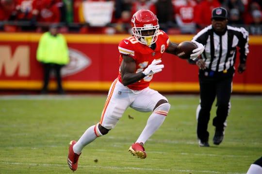 Chiefs receiver Tyreek Hill