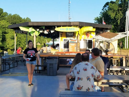 Tiki Time Bar and Grill on (literally) the Ohio River.