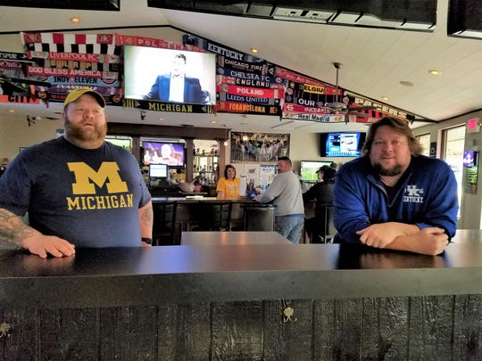 Joshua Pietrowski, left, and Cory Edwards of Doc's Sports Bar are now proud owners of the Evansville Brewhouse.