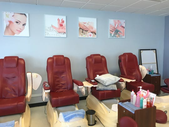 4 Seasons Nails & Wax has eight pedicure chairs, as well as six manicure stations to accommodate customers.