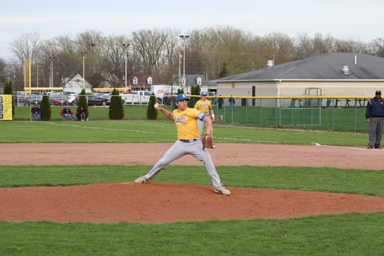 Grant Reese notched the win on the mound in Clyde's victory over Norwalk.