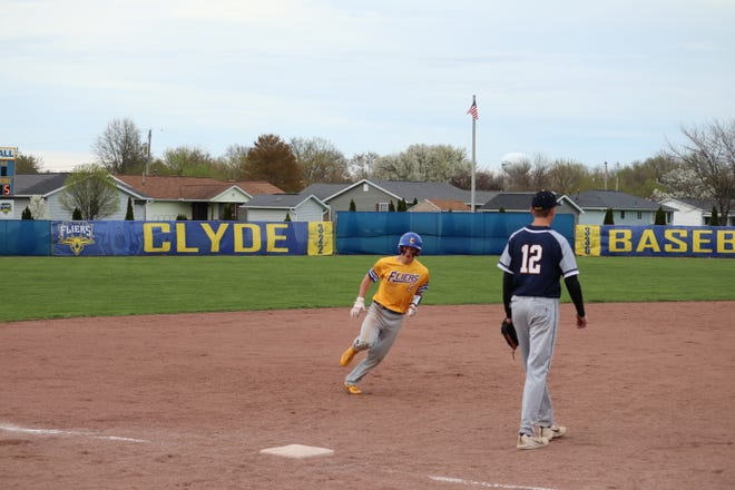 Clyde freshman Will Lozier scored three runs against Norwalk.