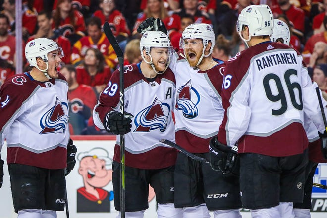 The Colorado Avalanche start their second-round playoff series against San Jose at 8 p.m. Friday.