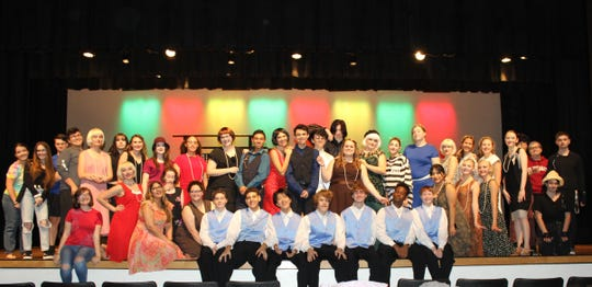 "The cast of Ida S. Baker High's ""Thoroughly Modern Millie"""
