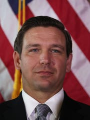 DeSantis MIAMI, FLORIDA - JANUARY 09: Newly sworn-in Gov. Ron DeSantis attends an event at the Freedom Tower where he named Barbara Lagoa to the Florida Supreme Court on January 09, 2019 in Miami, Florida. Mr. DeSantis was sworn in yesterday as the 46th governor of the state of  Florida.(Photo by Joe Raedle/Getty Images,)