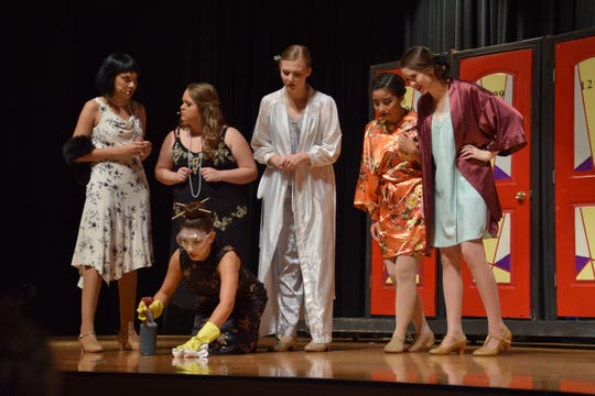 "A scene from Ida S. Baker High's ""Thoroughly Modern Millie"""