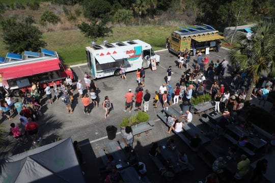 The Food Network's 'The Great Food Truck Race' is in Fort Myers shooting at several locations. On Wednesday they were seen at the Fort Myers Brewing Co. Several food trucks are slated to be at the Fort Myers Brewing Co. on Thursday as well as in downtown Fort Myers .