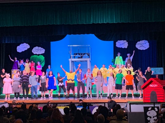 """A scene from Fort Myers High's """"You're a Good Man, Charlie Brown"""""""