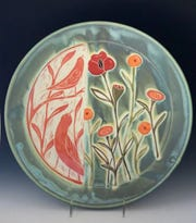 Works like this platter by Renee Schwaller will be on display during the Door County Potter's Guild Annual Studio Tour.
