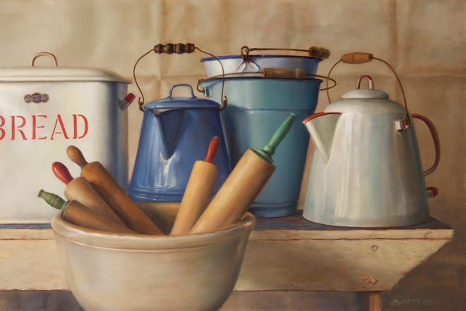 Edgewood Orchard Galleries is will open its 50th anniversary season with a group show including works featured in a new benefit cookbook as well as other food-related art.