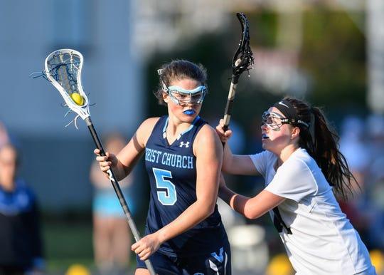 Christ Church lacrosse player Hailey Sanders (5).