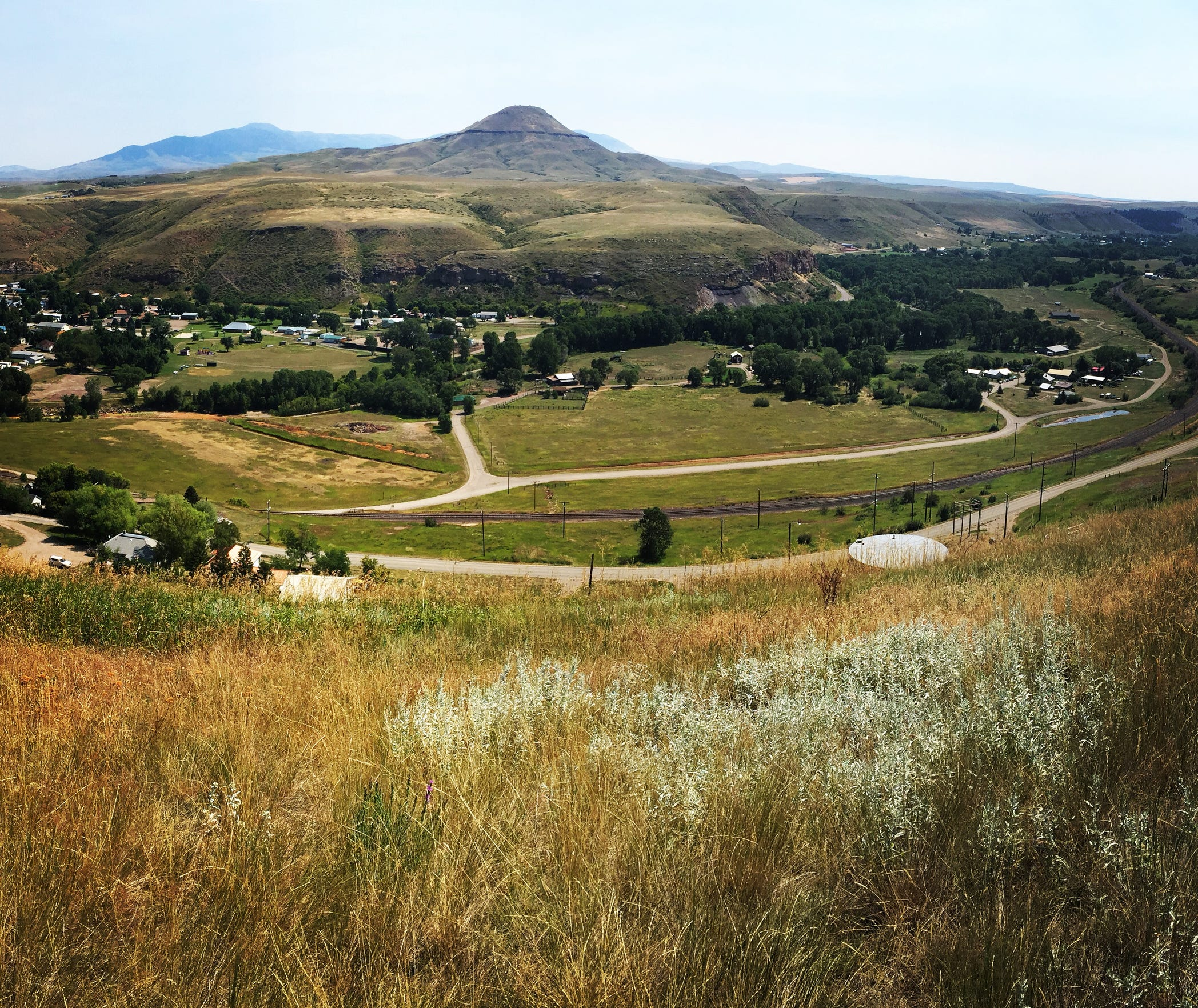 The water treatment plant will be constructed on this bluff above the town of Belt.