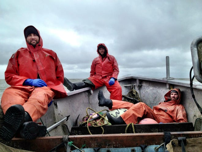 Joe Echo-Hawk and the fishing crew out on a previous harvest in Bristol Bay.