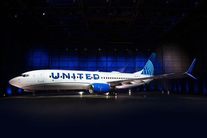The next iteration of United's livery prominently features three shades of blue – Rhapsody Blue, United Blue and Sky Blue.