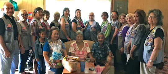 In its continuing mission of caring for the sick and the elderly, the Guam Sunshine Lions visited Vicente C. Quenga, 78, (seated third from left) at his residence in Piti on April 6, 2019. Club members brought song, cheer, a fruit basket and treats for Quenga.