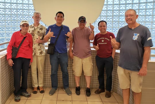Guam Echecs, also known as the Guam Chess Federation recently held an election for board of directors.  The 2019-2020 board members and officers are as follows from left to right:  Rudolph Soriano, Zoltan Szekely - Vice Chairman, Noly Caluag - Chairman, Felix Lacno, Elias Tirador, and Peter Mafnas.  Not shown: Gavino Estur.