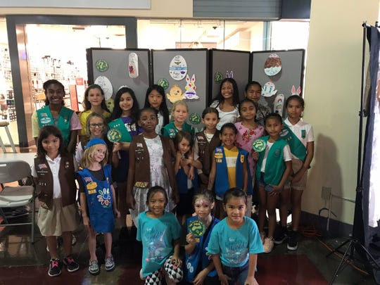 """In partnership with GPO, Guam Girl Scouts Troop #571, #360, and #722 hosted the annual """"Some-Bunny Cares About You!"""" card-making event on Saturday, April 13, 2019. Over 200 get-well cards were made for those hospitalized this spring-time season. Pictured from left (Top Row): Celis Mcdonald, Emily Burgess, Megan Camacho, Vivian Wen, Kai'leah Quitugua, Eziana Ogo, Courtney Scharff (Middle Row) Zoe Glaze, Madelynne Sutton, Gweniver Sutton, Cordia Williams, Evie Young, Aurora Young, Lighlah Young, Zuri Mcdonald, Natania Aguon, Caedence Quinata, (Bottom Row) Penelope Cuaresma, Penelope Lujan, EmarraJo Quinata."""